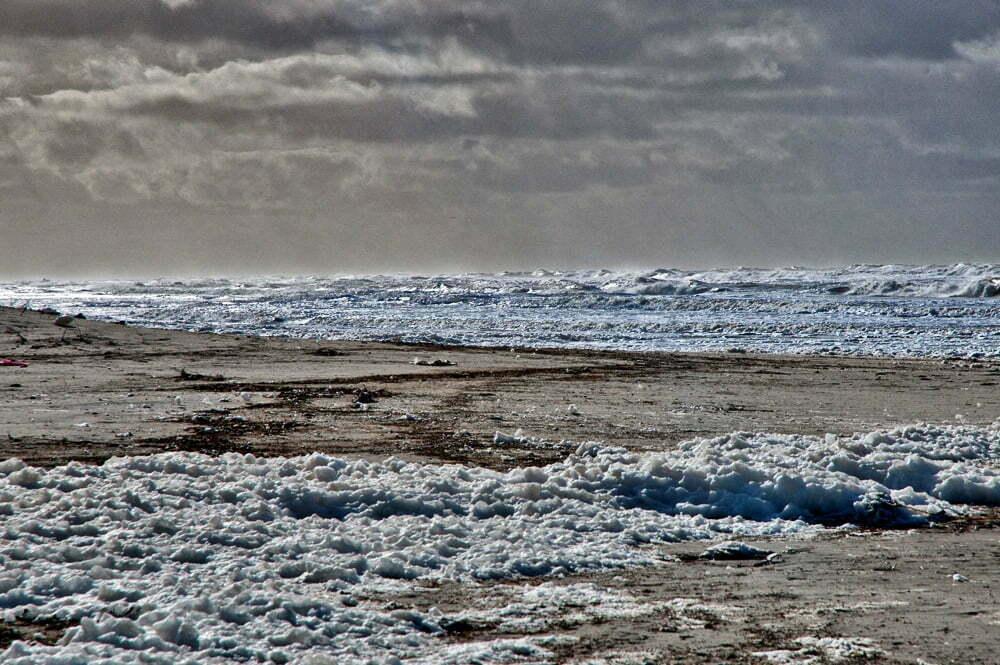 Estação Ecológica do TAIM, imagem da praia do Cassino, RS